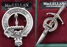 Badge or Kilt Pin MacLellan Scottish Clan Crest Pewter
