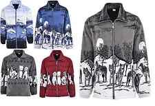 Men Women Animal Print Warm Thick Fleece Winter Shirt Jacket/Coat S-2XL