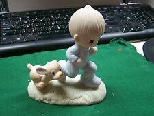 "1979 Precious Moments Figurine ""GOD'S SPEED""  #E-3112   NICE!!  L@@K      jj"