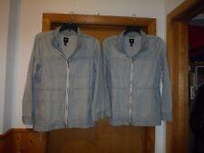 Long Sleeve Full Zip Denim Jackets GAP XL,L,M, Elastic Drawstring Waist 4 pocket