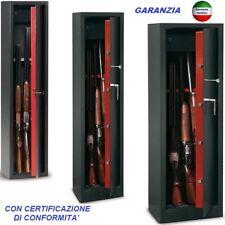 ARMADIO CASSAFORTE PORTAFUCILI FUCILIERA BLINDATO 5-10 POSTI FUCILI CACCIA ARMI