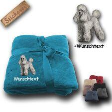 COUVERTURE moelleuse chien caniche + texte PERSONNALISABLE, broderie, 180x130cm