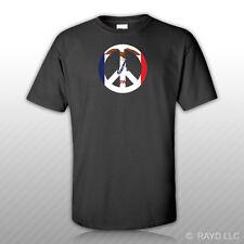 Iowa Flag Peace Symbol T-Shirt Tee Shirt Cotton Ia sign no war
