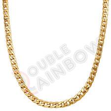 "18-36""Men Stainless Steel 8mm Gold/Silver Diamond Cut Cuban Link Chain*C10"