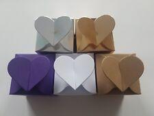 Heart Top Wedding Favour Boxes - Choose Colour - Choose QTY. Party Favours