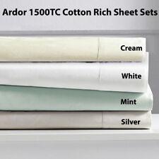 Ardor 1500TC Cotton Rich Sheet Set King & Queen Bed