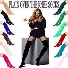 Lady Girl Women Plain Over The Knee Socks Thight Fancy School Thight Stockings