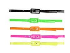 80s Neon Belt Bright 1980s Coloured Adults Fancy Dress Accessory