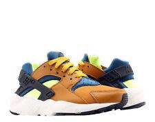 Nike Huarache Run (GS) Desert Ochre/Blue-Volt Big Kids Running Shoes 654275-701