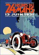 Monaco Grand Prix 1931 Races 24 Heure Du Mans Vintage Poster Print Art Car Race