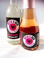 10 X Personnalisé Hen Do Parti Boire BITCHES Mini vin bouteille de champagne étiquette