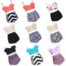 Women Floral High Waisted Bikini Set Swimsuit Padded Swimwear Bathing Plus Size