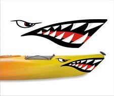 SHARK TEETH MOUTH DECAL STICKERS KAYAK CANOE JET SKI HOBIE DAGGER OCEAN boat 001