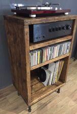 Hi Fi Cabinet/Separates/Reclaimed Wood/Record Player/Steel legs/LP/Vinyl Storage