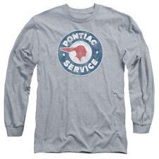 Pontiac Vintage Pontiac Service Mens Long Sleeve Shirt Athletic Heather