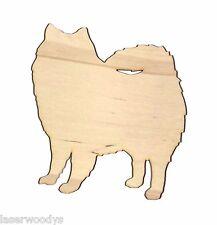 American Eskimo Dog Unfinished Wood Shape Cut Out Ae5546 Lindahl Woodcrafts