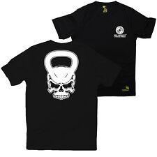 FB Gym Bodybuilding Tee - Skull Kettlebell - Novelty Dry Fit Performance T-Shirt