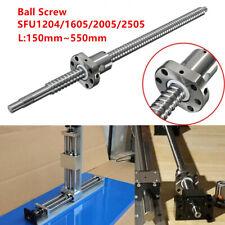 150-550MM Ball Screw SFU1204 SFU1605/2005/2505 End Support & Ballnut Housing CNC