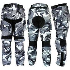 Pantalone Cordura Per moto Black/White Mimetico mod-3132 -PROTEZIONI-CE