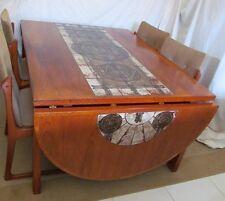 SCAN DESIGN Oxart Signed Dining Table '78 With 4 Chairs 2 Leaf Oak Teak Tile