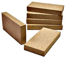 Fire Bricks Stove Woodburner Quality UK Clay Fire Bricks 230mm x 114mm x 25mm