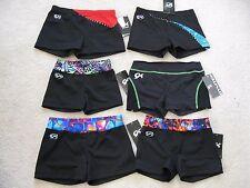 NWT GK Elite Fun Design Mini Bar Shorts Gymnastic Leotard - Child & Adult Sizes