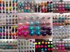 LOT 36 paire boucle d'oreille perle puce COULEUR de 4 à 12 MM idéal revendeur
