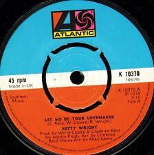 "BETTY WRIGHT let me be your lovemaker/jealous man K 10370 uk 1973 7"" WS EX/"