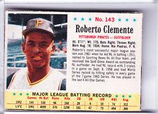 1963 POST CEREAL #143 ROBERTO CLEMENTE PITTSBURGH PIRATES HOF
