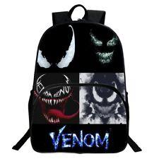 Hot Moive Venom Backpack Canvas Travel Bags Superhero Casual School Bag Bookbag
