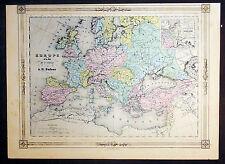 1835 Dufour Antique Map of Europe