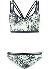 Damen Bustier Bikini (2-tlg. Set), 242245 in Grün/Schwarz