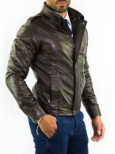 ★Giacca Giubbotto Uomo in di PELLE 100% Men Leather Jacket Veste Homme Cuir 14n7