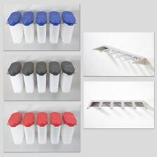 Tupperware 5 Stück Gewürzriesen Farbe wählbar mit Gewürzregal oder nur Regal