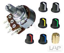 Potentiometer Stereo | Pins | linear | logarithmisch | 1K-500K Rotary Taper Poti