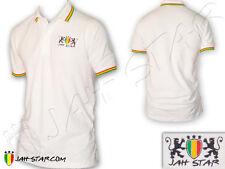 Polo Shirt Reggae Rasta Logo Jah Star Wear Brodé