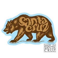 Santa Cruz or California Bear Sticker - Bumpersticker Vinyl Decal by Tim Ward