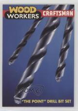 1992 Sears Craftsman Tools #60 The Point Drill Bit Set Non-Sports Card 0b5