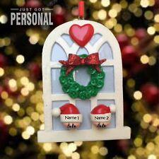 Personalised Family Christmas Tree Decoration - Christmas Window Family 2,4 & 6