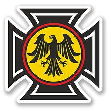 2 x GERMAN EAGLE CREST ADESIVO AUTO MOTO IPAD NOTEBOOK CASCO CHITARRA Germania # 4164