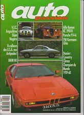 AUTO PASSION N°19. 1988. BMW M1. COVENTRY CLIMAX. PORSCHE 914. VW KARMANN.