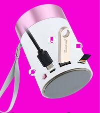 Mini Bluetooth Wireless Portable HiFi Bass Handfree Stereo LED Speaker USB TF