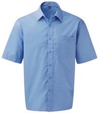 Prima Corporate Wear Easy Care Poplin Short Sleeve Shirt Casual Business Office