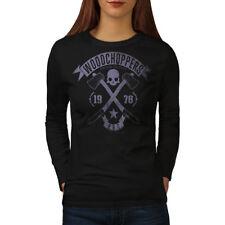 Woodchoppers Club Vintage Women Long Sleeve T-shirt NEW | Wellcoda