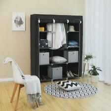 4 Tier 10 Grids Closet Cabinet Storage Organiser Clothes Wardrobe Stand Shelves