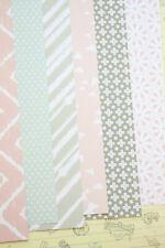 Pink & Grey Mix Patterns Card Stock 250gsm wedding scrapbooking paper cardstock