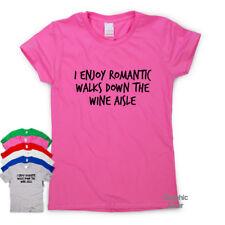 Romantic Walks & Wine funny T shirt humour mens gift womens sarcastic slogan top