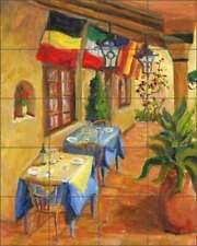 Cafe Tile Backsplash Joanne Morris Margosian Tuscan  Art Ceramic Mural JM094