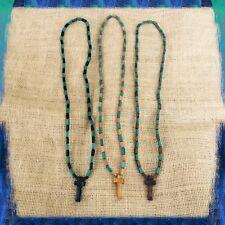 "Jesus Christ Yeshua Messiah Wood Necklace Cross Lord Savior Jesus Christ 36"""
