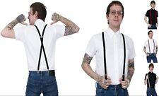 Men's Skinny Braces Half Inch 1.5 Cm's Wide Skinheads Black Red Burgundy Grey